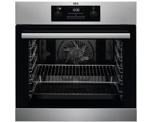AEG BES25101  Built In Electric Steam Bake Single Oven - Stainless Steel